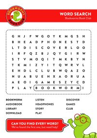 Bookworms Book Club – Word Search