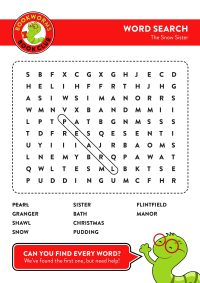 The Snow Sister – Word Search